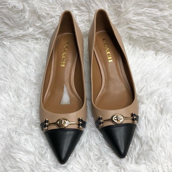 7ecd74d5b6b3 Coach Shoes - COACH Lauri Leather Classic Pumps Nude Black